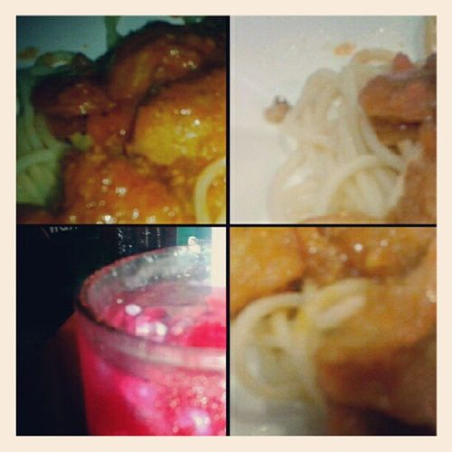 Chicken bolognese with sirap selasih..