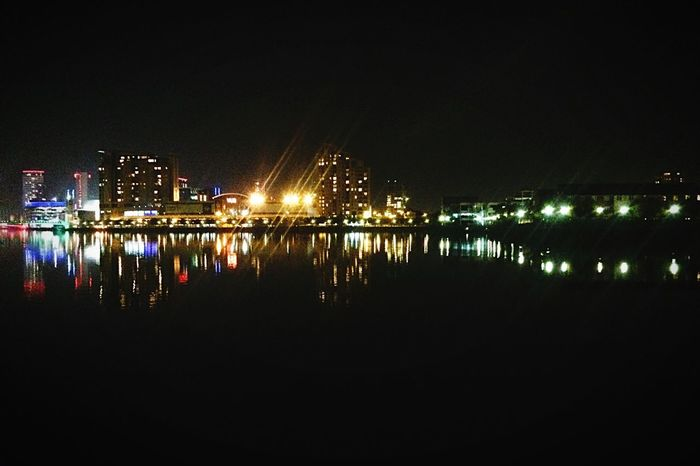 Water Reflections Mirror Image Reflection Night View Nightphotography Night Lights Landscape Buildings I Love My City