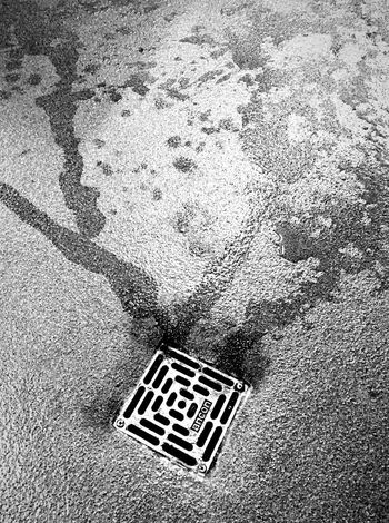 Black And White Down The Drain Converging Lines Textured  Eyeem This Week