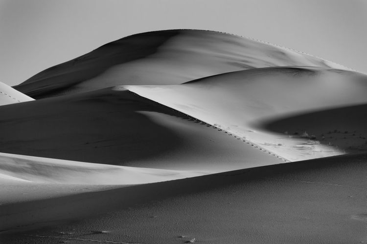 Eureka valley sand dunes against clear sky