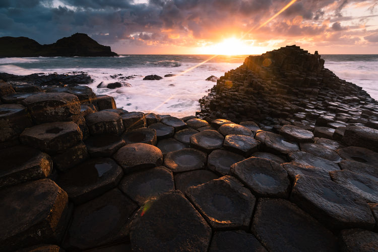 Greatest Painter My Best Photo Ireland GiantsCauseway Landscape_Collection Landscape_photography Sunset_collection Outdoor Photography Seascape Earth Planet Earth Ireland Landscapes Irish Sea Water Sky Sunset Scenics - Nature Beauty In Nature Horizon Over Water Tranquility