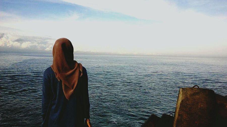 Indonesia_photography Beach Glagahbeach Alone Girl Hijabbeauty Jogjakarta Two Is Better Than One