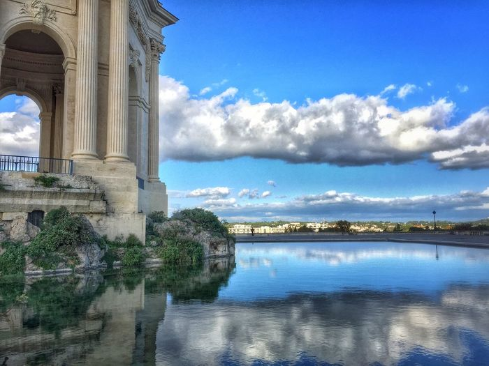 Montpellier, c'est le Peyrou ! Reflection Clouds And Sky Architecture Monument EyeEm Best Shots - Architecture
