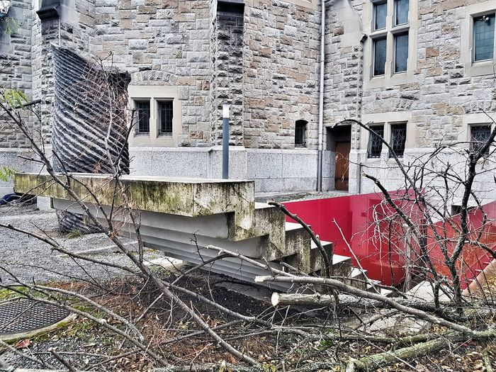 Architecture Built Structure Day Building Exterior Outdoors No People Red Stairs Himmelsleiter Art Kunst Am Bau
