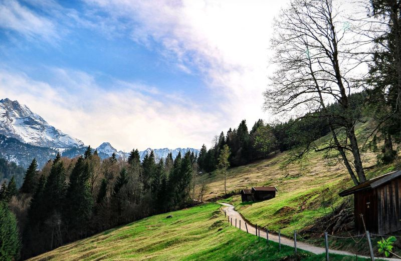Partnachalm Bavarian Landscape Bavaria Mountain Scenics - Nature Beauty In Nature Tranquil Scene Landscape Tranquility Green Color No People Nature Day Footpath Outdoors Grass