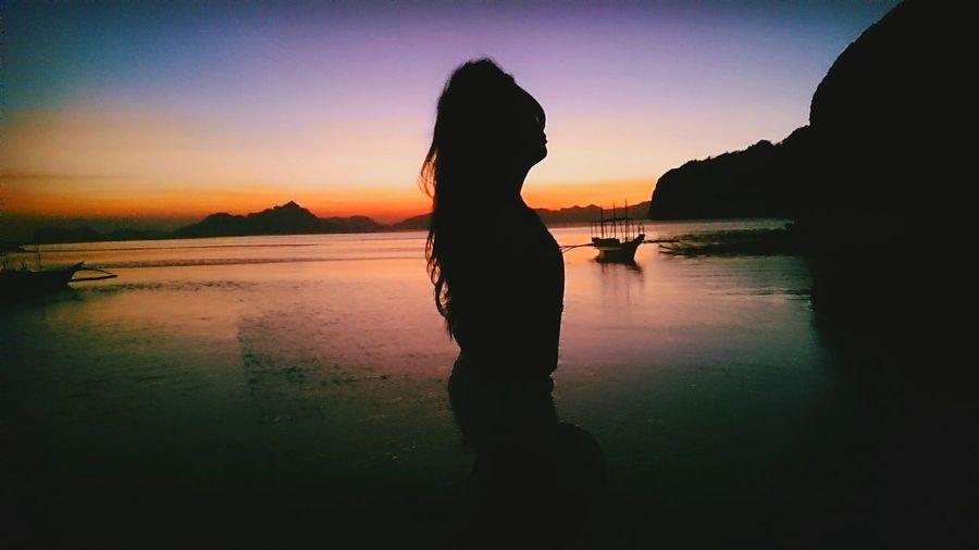Elnido Philippines Travel Relax Beach Sunset