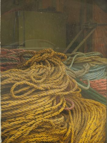 Ropes, Deer Isle, Maine Deer Isle Maine No People Day Fishing Industry Fishing Rope Pattern Backgrounds Yellow Complexity Equipment Still Life Thread