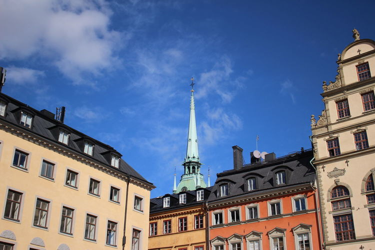 Architecture Blue Building Exterior Buildings Buildings & Sky Built Structure Capital Cities  Church City Cloud - Sky Day Dome EyeEm Gallery Famous Place History Low Angle View Religion Sky Stockholm City Stockholm View Tourism Town Travel Travel Destinations Window