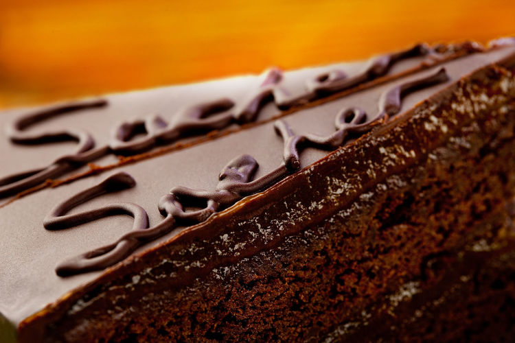 sacher cake Sacher Torte Sachertorte Close-up Day Dessert Food Food And Drink Freshness Indoors  No People Ready-to-eat Sacher Sachercake Sweet Food