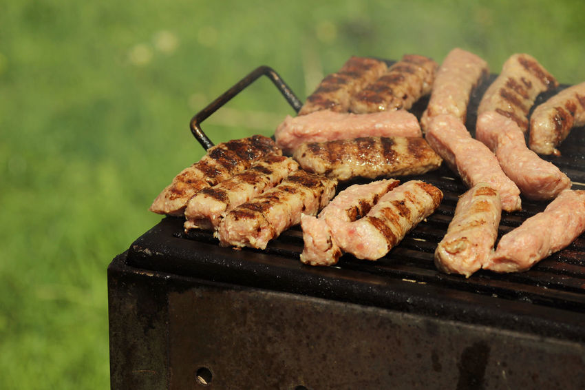 Cevapcici on the grill BBQ BBQ Time Food And Drink Homemade Pork Relexing Barbecue Barbecue Grill Cevapcici Cevapi Close-up Day Food Food And Drink Freshness Garden Grill Grilled Grilled Meat Meat Minced Meat No People Outdoors Preparation  Vacation