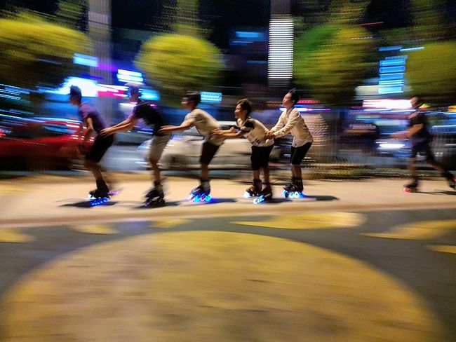 Seems like we are back in the 70s Excercising Relaxing Need For Speed Outdoors Streetphotography Rollerblading Rollerskating Roller Skating Rollerblade Rollerskates Rollerblades Roller Skates Roller Blading Rollerskate Rollergirl Woonhong Penang Penang Malaysia Karpal Singh Drive Having Fun Having A Good Time People And Places People Watching EyeEm Ready