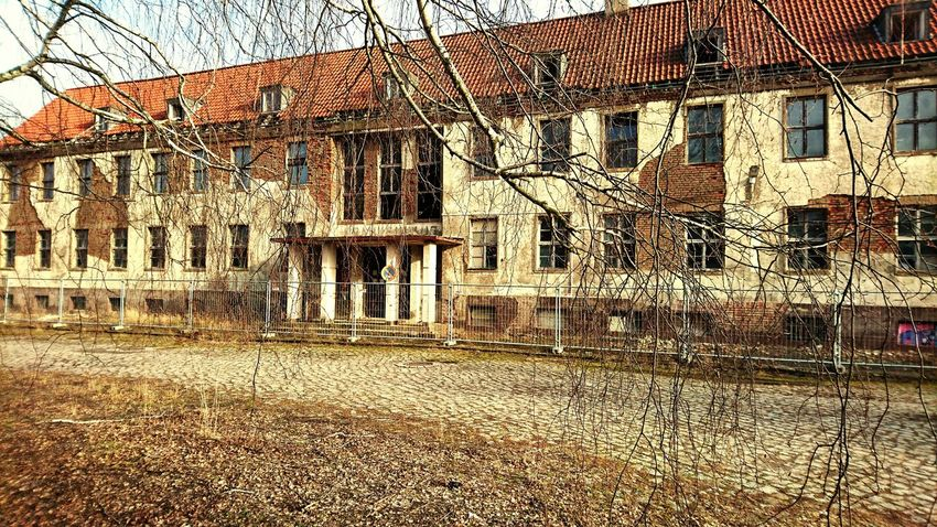 Built Structure Architecture Building Exterior Day No People Outdoors Tree Sky Bare Tree Alternative Energy Nature Psychiatric Hospital Lostplacephotography Krankenhaus Abandoned Places EyeEmBestPics Abandonedplaces SonyZ5 Abandoned_junkies