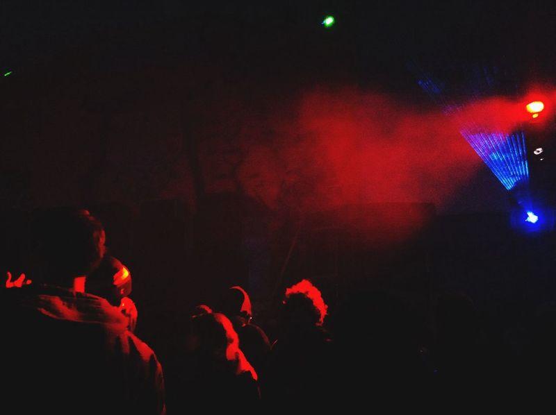 Raveparty Lights Enjoying Life Red