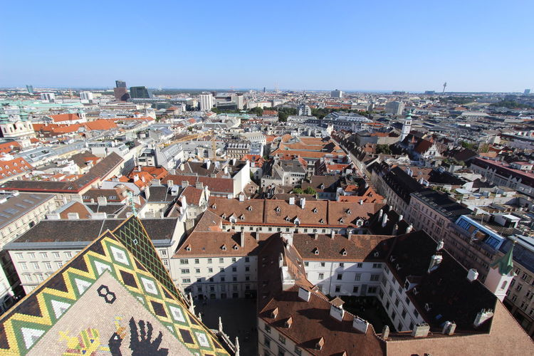 Vienna Vienna Europe Austria Looking Down Rooftops Rooftop Roofs From Above Roof Line Roof Life Streets City Horizon City Landscape Old City Old Cities Old Buildings