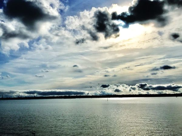 Clouds over the river. Sky Water Beauty In Nature Clouds And Sky Clouds And Water Riverside