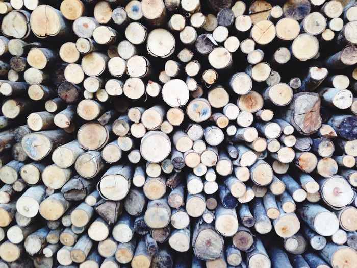 Firewood Firewood Wooden Circles Round Shape Big And Small Stack Of Wood Wood Stick Againts Wall Firewood For Pizza Puttanonton Bangkok Evening