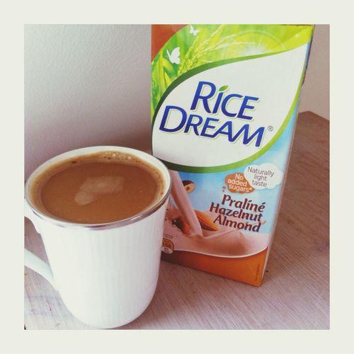 favourite vegan coffee drink. hazelnut