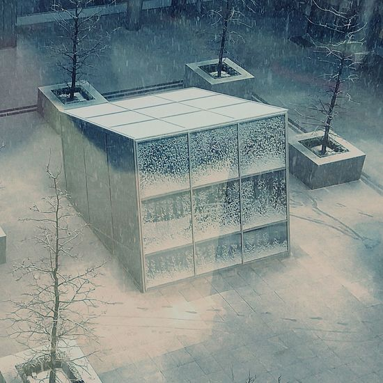 Built structure in winter