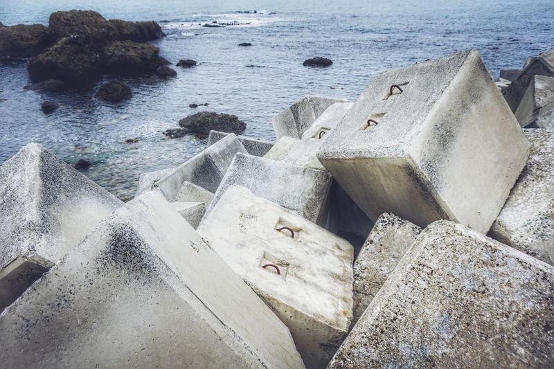 Rocks against sea