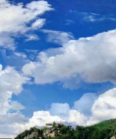Badstitch Blue Bluesky Sky Green Greenhill Hill Gebhartsberg Clouds Clouds And Sky