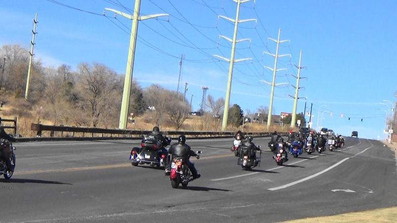 Group of Motorcyclists Transportation Land Vehicle Mode Of Transport Road Street Real People Outdoors Building Exterior Sky Motorcycle Architecture Built Structure Day City Men Scooter Tree Motorbike Colorado Springs Colorado Photography Coloradophotographer