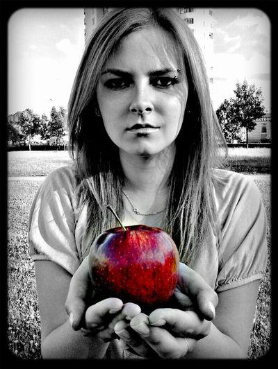 Take It Apple Girl Black White