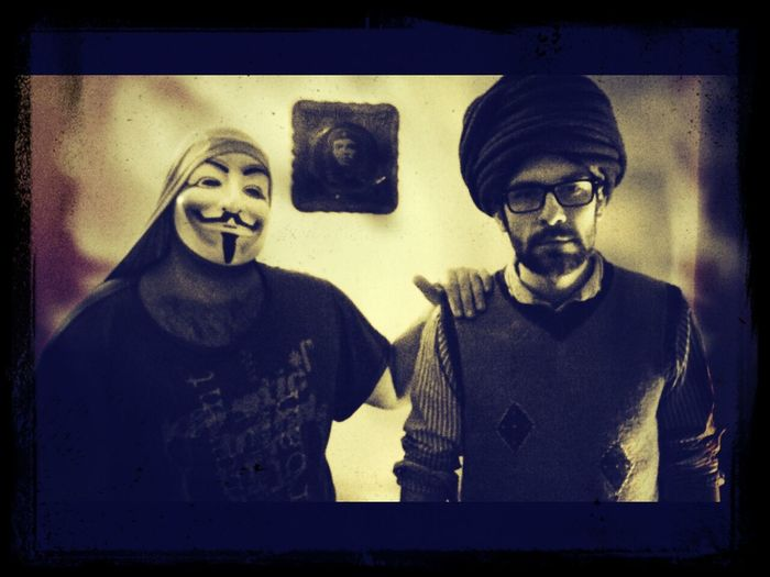 anonymous and muslimous sharing a moment