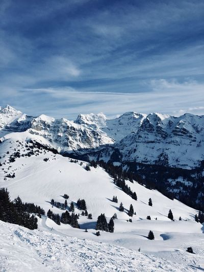 France Avoriaz Snow Winter Cold Temperature Weather Mountain Tranquil Scene Snowcapped Mountain Nature Sky Scenics Day No People Landscape Mountain Range Beauty In Nature Cloud - Sky