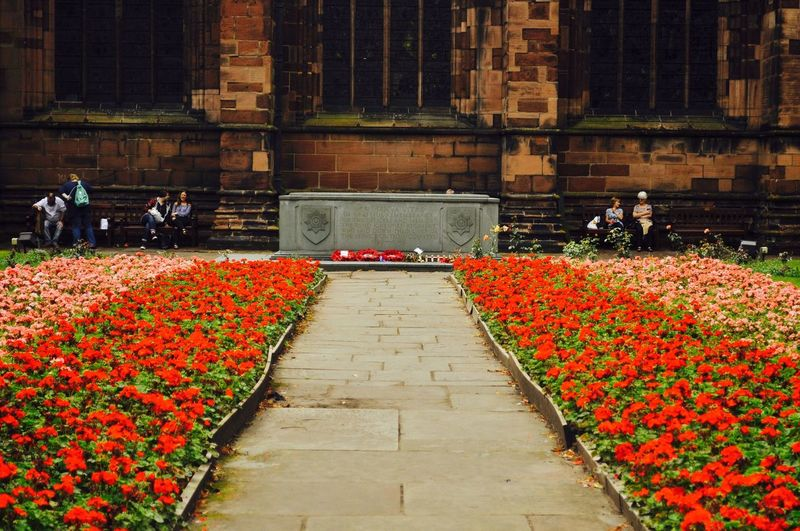 Chester Chestercathedral War Warmemorial Flowers Leading Lines Showcasejuly Showcase July Red