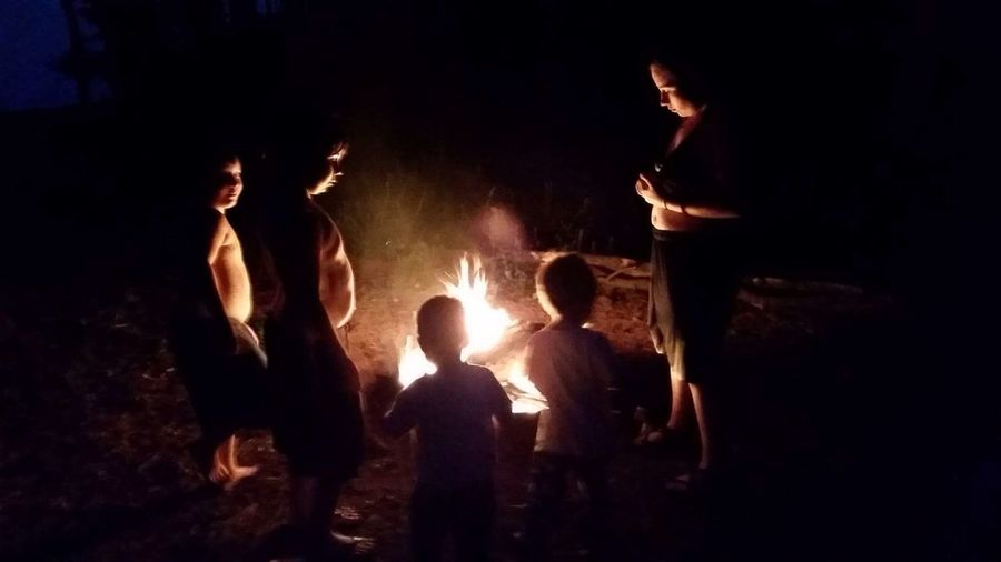 Always Be Cozy Night Group Of People Flame People Togetherness Men Heat - Temperature Friendship Illuminated Burning Outdoors Adult Close-up Children cozying up around the campfire