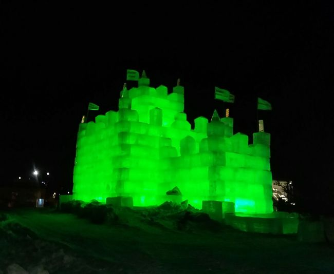 💚 Ice castle Detroit Lakes mn 💚 Ice Frozen Nature Ice Blocks Castle Fun Night Illuminated No People Outdoors Building Exterior Architecture Sky