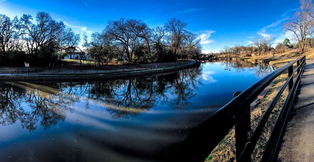 Panorama Water Reflection Tree Sky Nature Blue Tranquil Scene Lake Beauty In Nature Outdoors No People Followme Follow4follow HDR