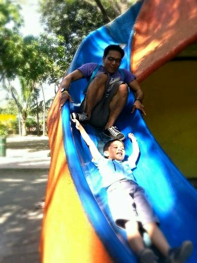 No one is too old to play on the slide.. <3 Enjoying Life Kidsatheart Family❤ FamilyTime Father & Son