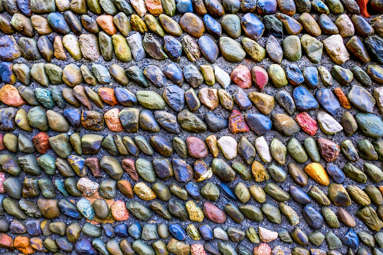 Colourful Construction Construction Site Wall Backgrounds Brick Building Brick Wall Background Close-up Concrete Construction Work Day Full Frame No People Outdoors Pebble Wall Pebbles And Stones Stone Material Stone Wall Stone Wall Background Textured  Walls