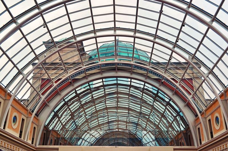 Inside to outside. Showcase: February Architecture Architectural Detail Modern Architecture Built Structure Interiors Shootermag Design Traffordcentre TheWeekOnEyeEM Arches Glass Roof Windowview EyeEm Gallery Architecture_collection Patterns Roof Lookingup Lines And Shapes EyeEm Shopping Mall