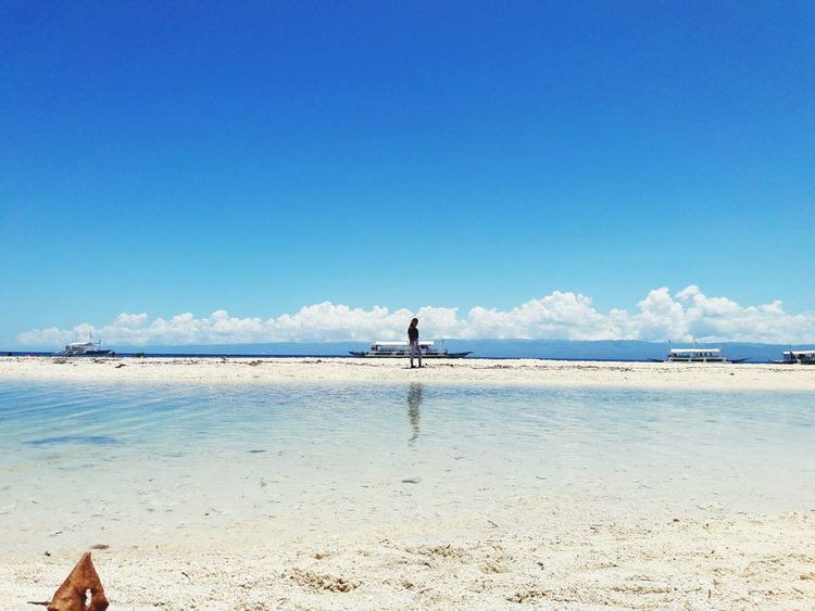 summer feels Eyem Gallery EyeEm Best Shots EyeEmNewHere Water Sea Beach Flamingo Full Length Sand Blue Clear Sky Summer