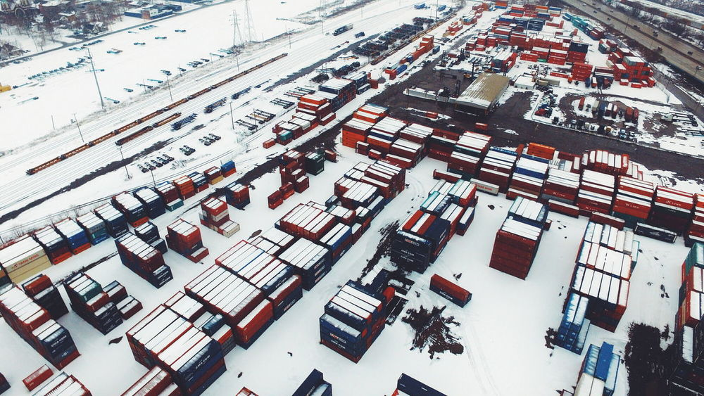 Industrial Industrial Landscapes Industrial Photography Industry Railroad Track Shipping  Snow Traveling Winter