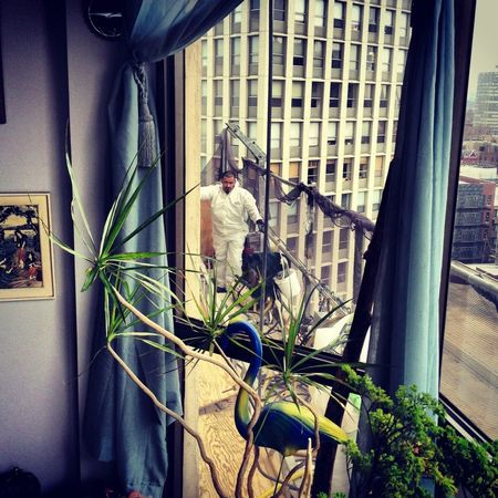 Men At Work  Out My Window Hi Rise Photography Frame It!