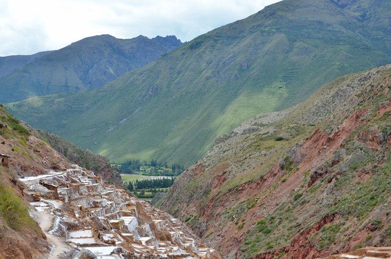Salt mine at salinas de maras