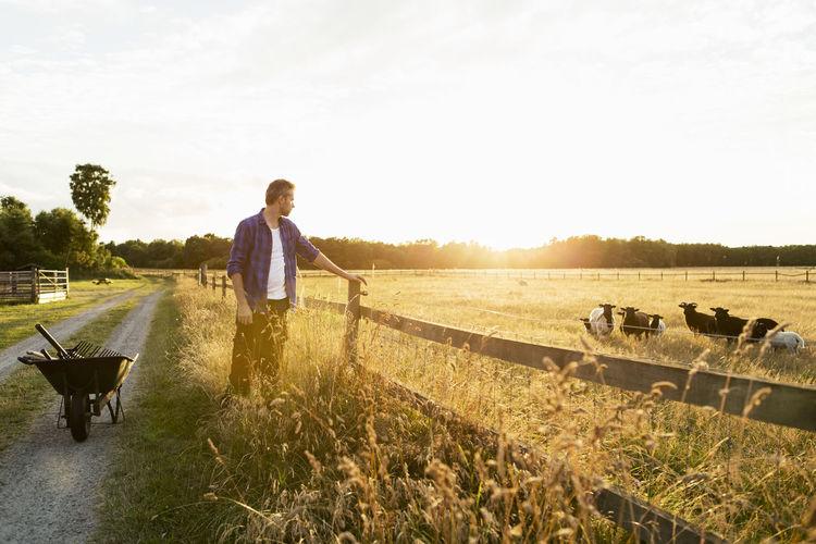 Man standing in a farm