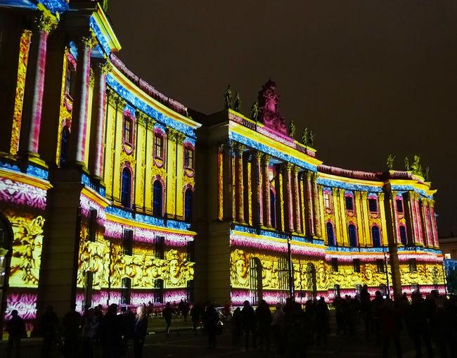 Berlin Unter Den Linden Festival Of Lights 2015 Night City
