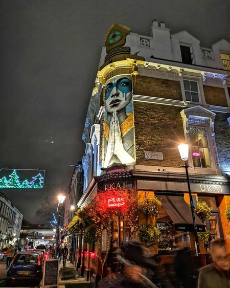 UKAI pub London Portobello Market Portobello Road Pub Huawei P20 Pro Huwaei Photography HUAWEI Photo Award: After Dark Nightphotography Colorful Pubs Live Music Beer Wine Drink City Illuminated Cityscape Christmas Decoration Christmas Christmas Lights Arts Culture And Entertainment Christmas Market Architecture Sky