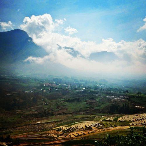 Sapa Clouds Sapa Valley View Vietnam Trekking Travel Picturesque Clouds Mountains Ricepaddies