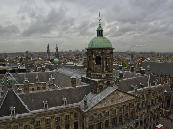 Amsterdam City Amsterdam Rooftops Architecture Buildings Built Structure City Cityscape Cloud - Sky Cloudy Cloudy Day Dome History No People Outdoors Residential Building Sky Skyline Travel Destinations