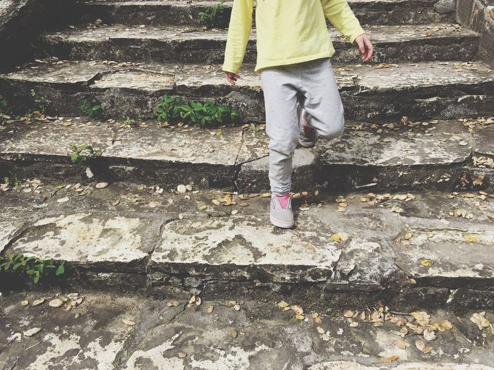 Steps Small Steps Stairs Rock Little Girl Shoes Pink Ben Lomond California United States
