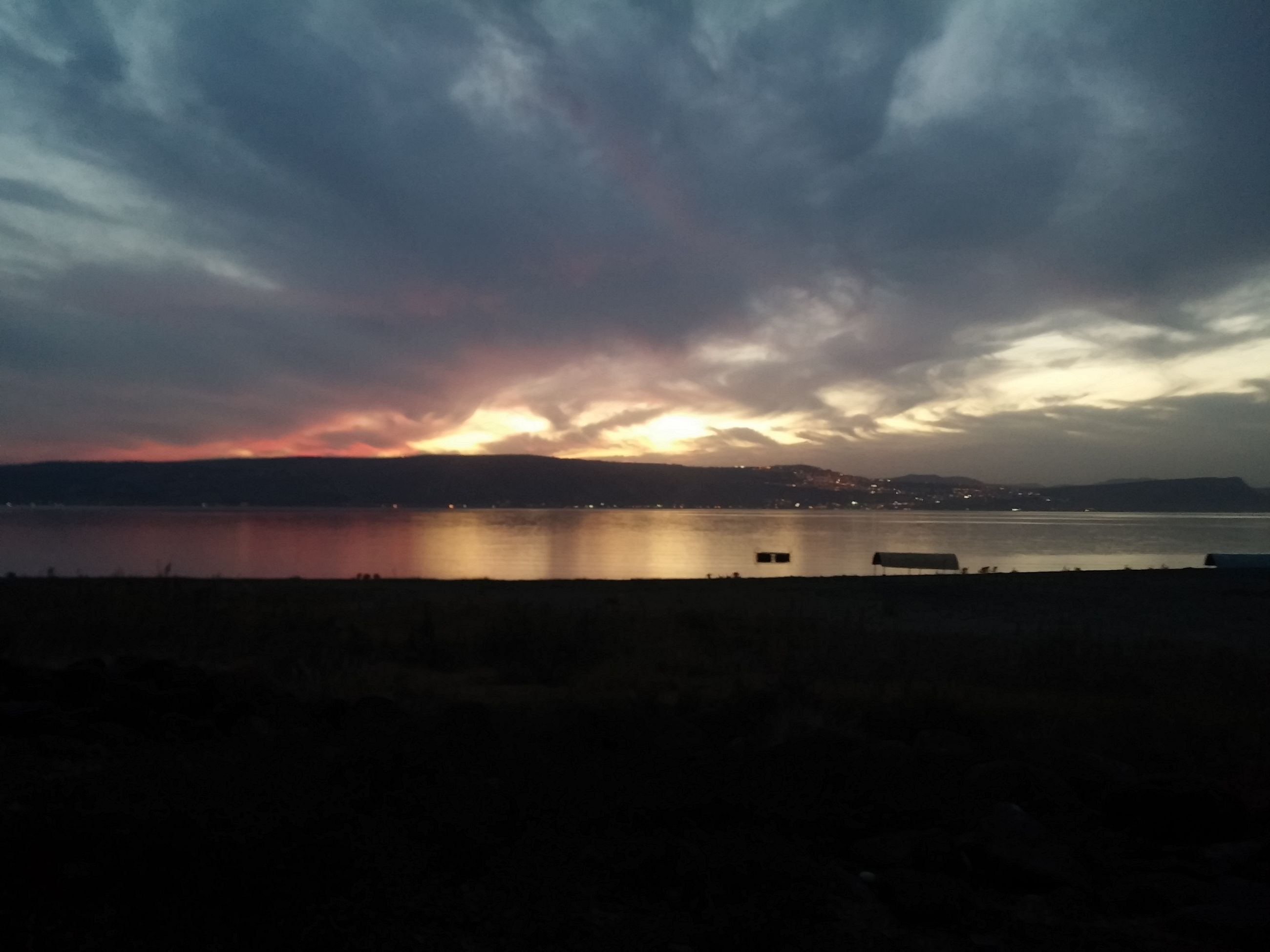 sky, sunset, tranquil scene, water, tranquility, scenics, beauty in nature, cloud - sky, lake, silhouette, nature, cloud, idyllic, cloudy, dusk, sea, calm, mountain, reflection, non-urban scene