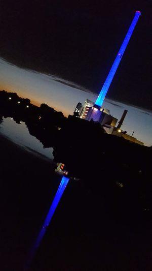 Saarbrücken Germany Heizkraftwerk  Blue