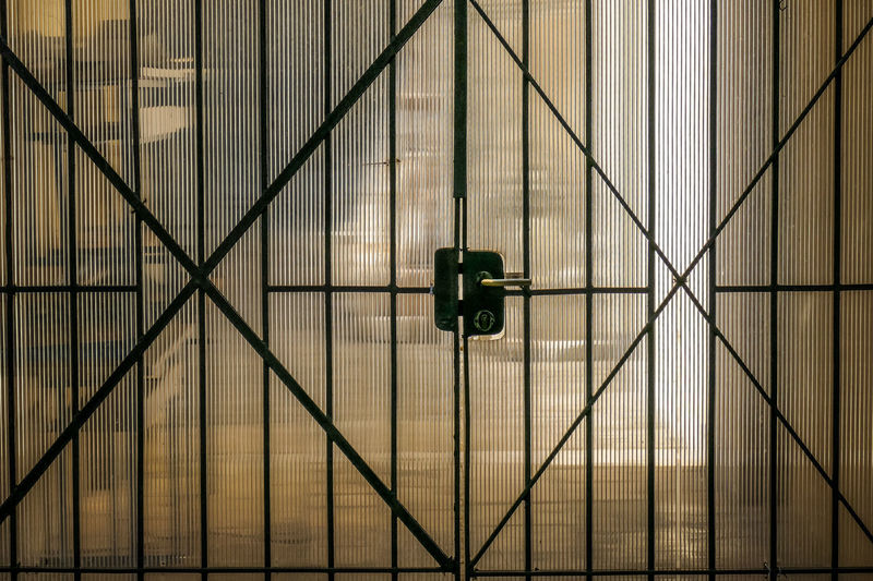 No People Architecture Pattern Built Structure Indoors  Safety Technology Metal Security Full Frame Wall - Building Feature Day Hanging Connection Close-up Lighting Equipment Backgrounds Illuminated Electricity  Light