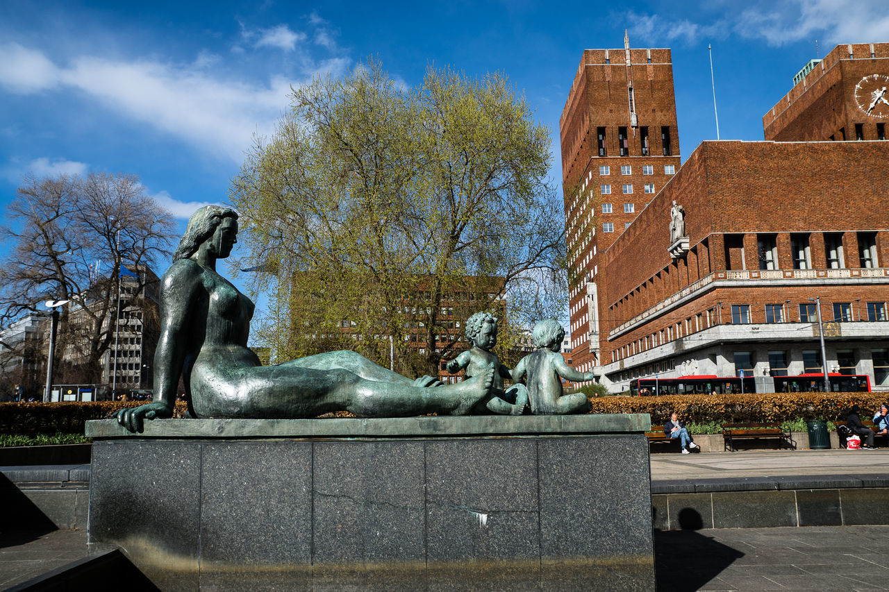 Sculpture By Oslo City Hall