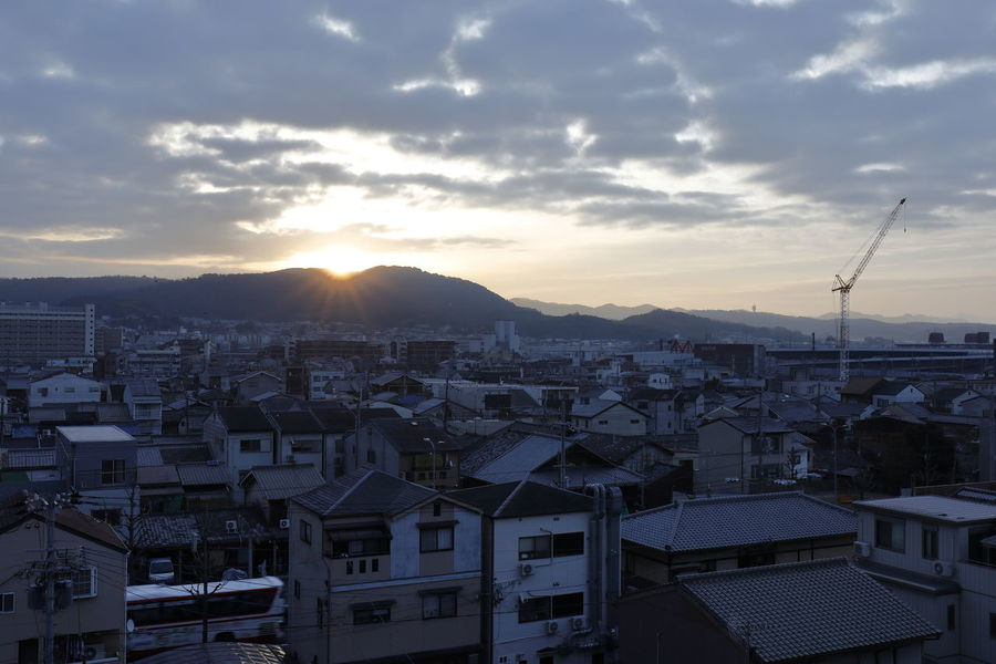 Cityscape Japan Japan Photography Morning Morning Light Morning Sun Morning Sky Nature Sunrise_Collection City Cityscape Cloud - Sky Day High Angle View House Kyoto Mountain Nature Outdoors Residential Building Roof Sky Sunlight Sunrise Sunrise_sunsets_aroundworld